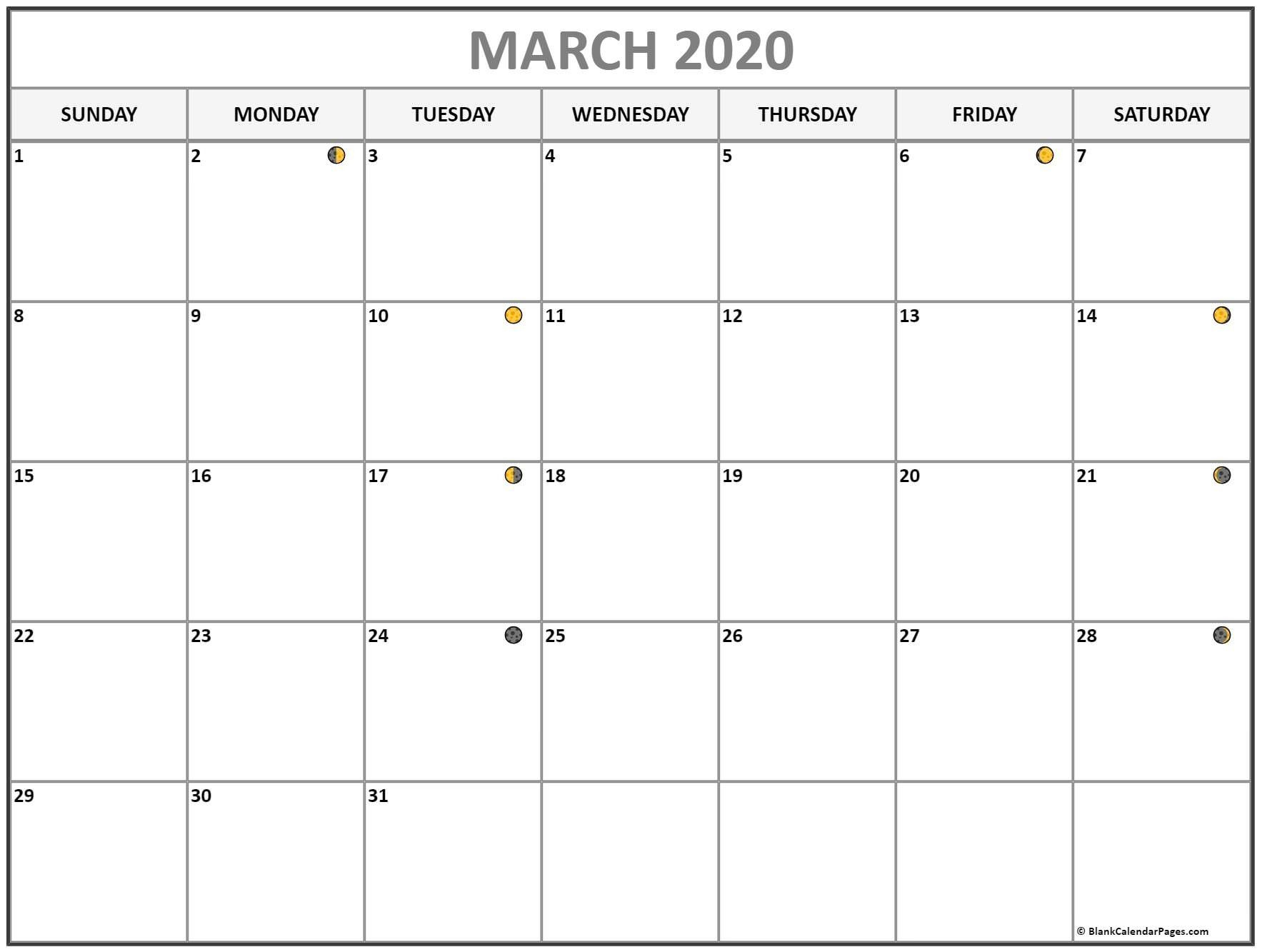 Moon Calendar March 2020 – Full & New Moon In 2020 | Lunar For Moon Calendar 2021 Name And Date For Kids