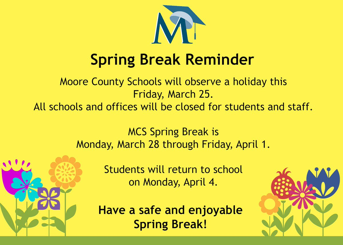 "Moore County Schools On Twitter: ""just A Reminder Regarding Throughout Moore County Nc Schools Calendar"