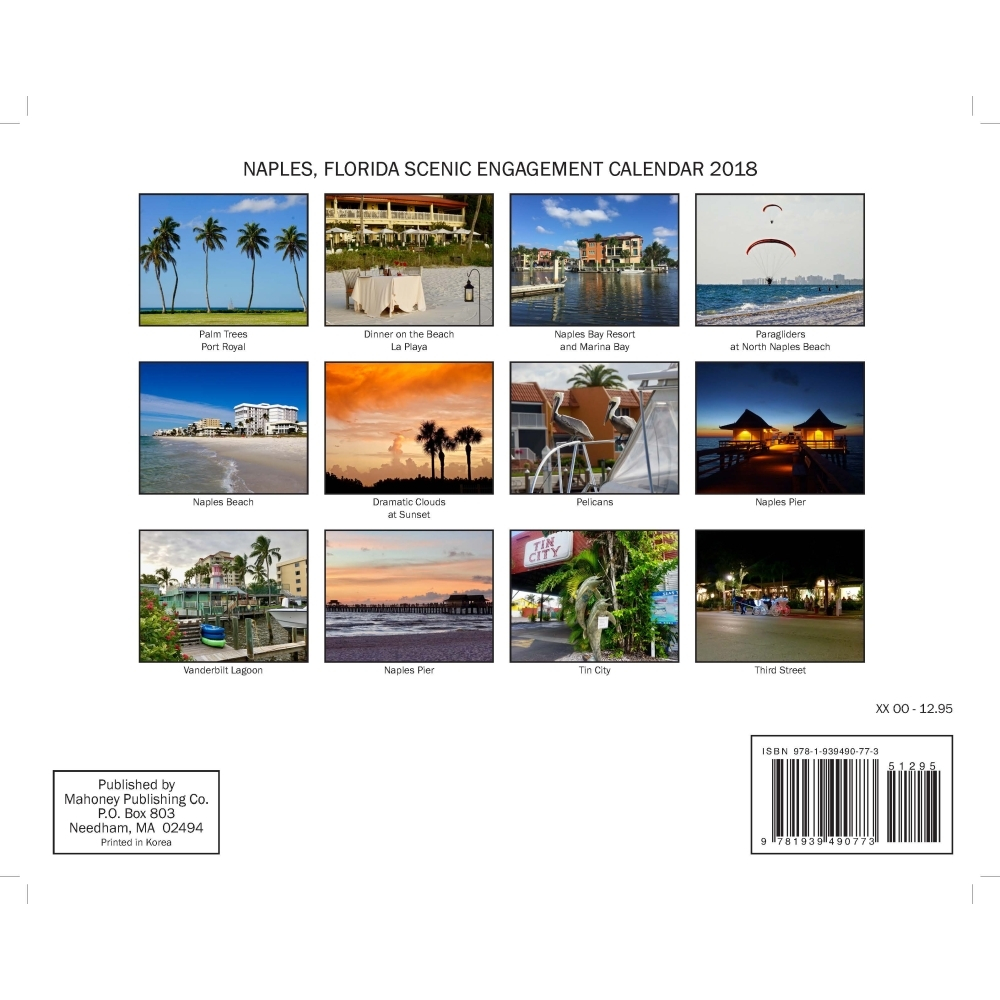 Naples Florida Wall Calendar, Floridamahoney Publishing Intended For Calendar For Naples Florida