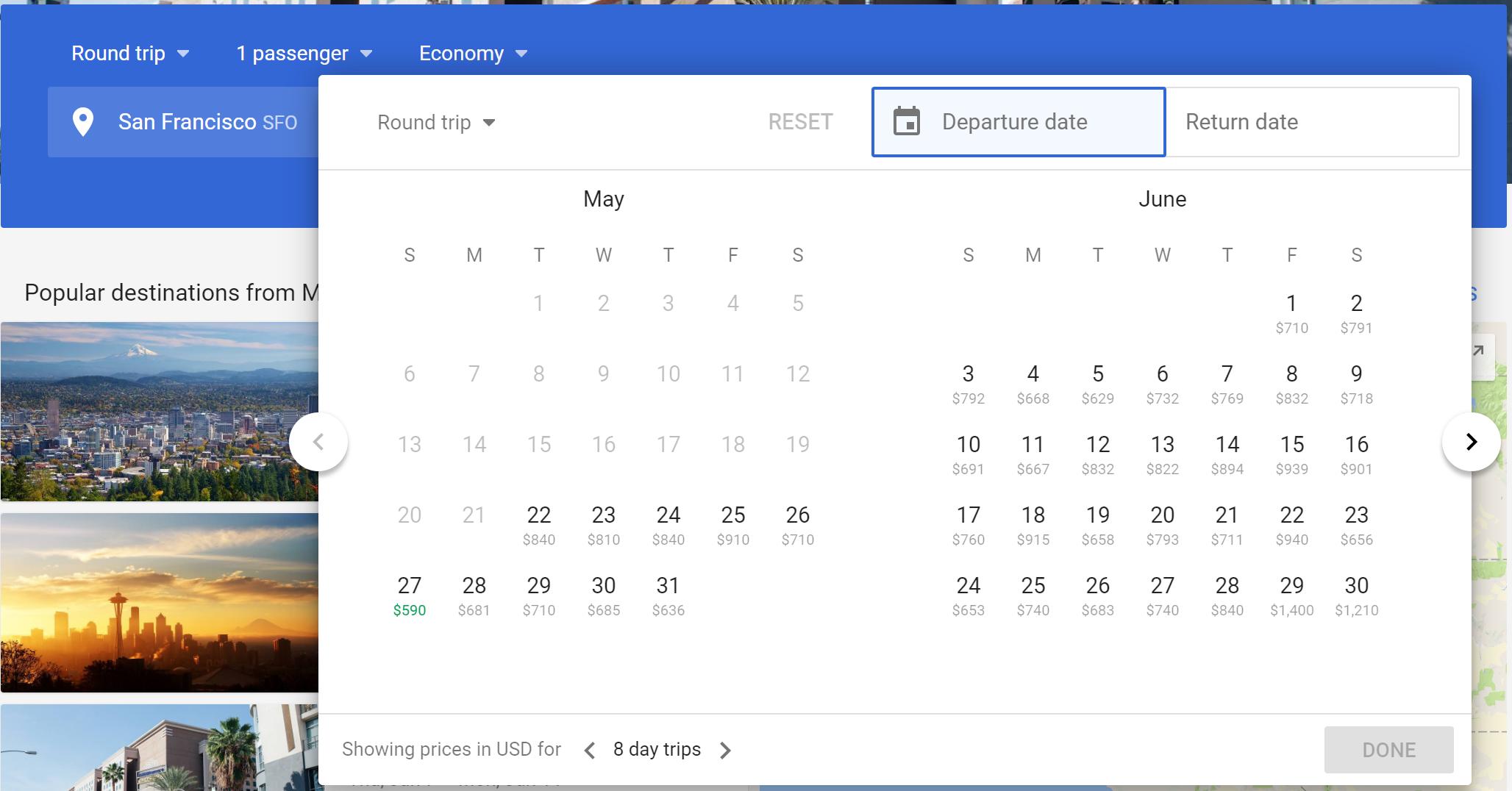 Navigating New Google Flights Fare Calendar, Fare Matrix And In Frontier Low Fare Calendar Flights
