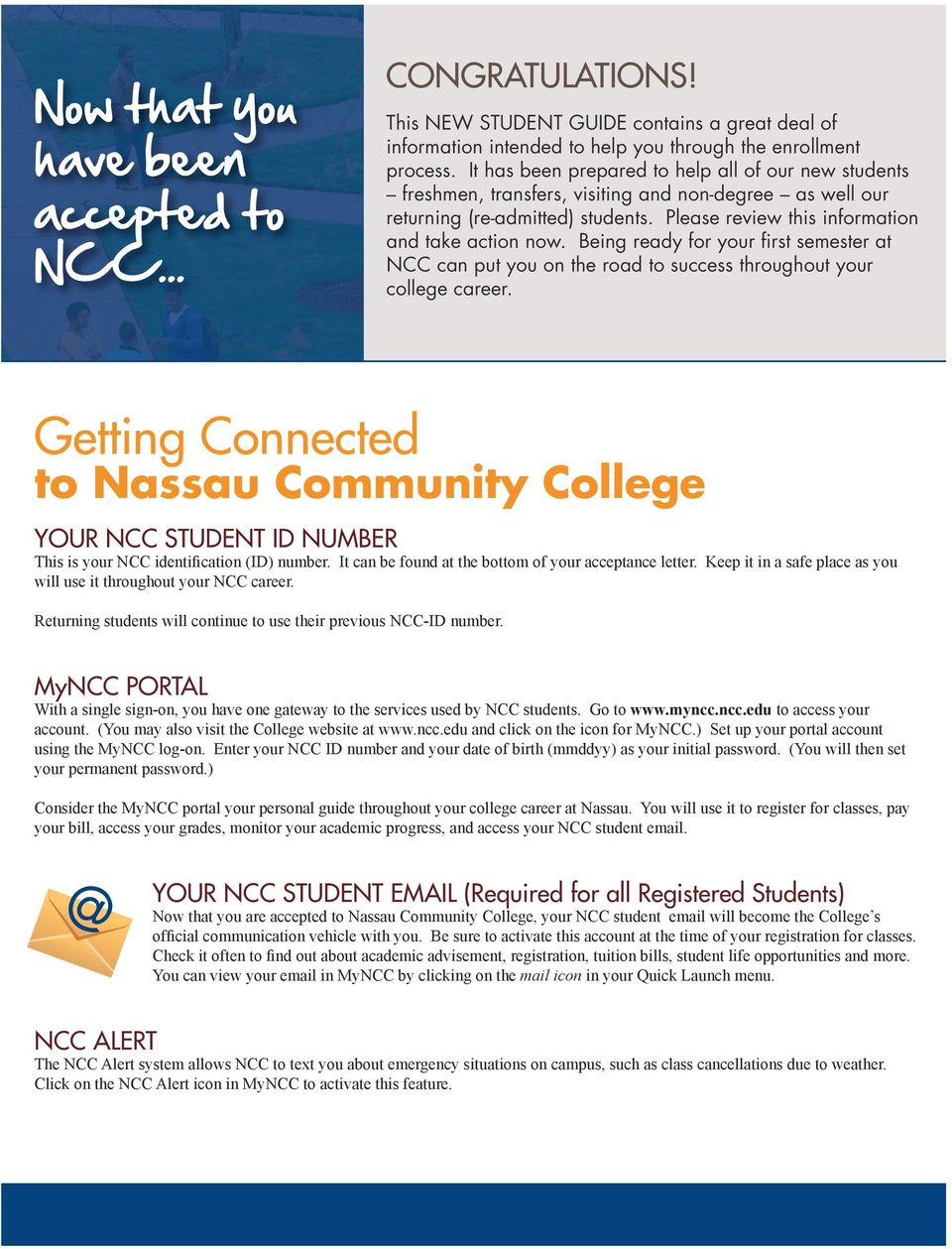 Ncc.edu New Student Guide To Enrollment At Nassau Community For 2020 Nassau Community College Academic Calendar