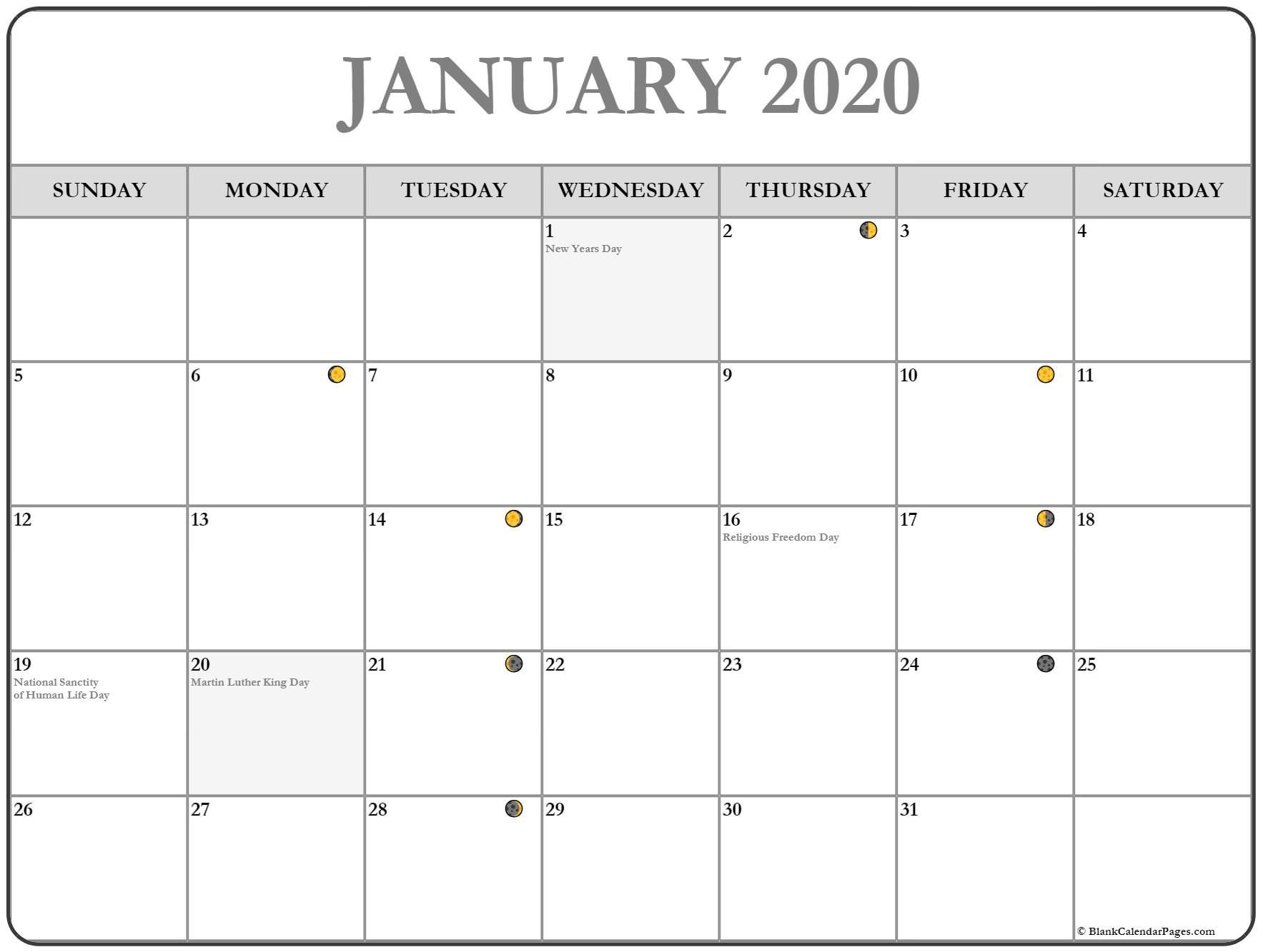 New Full Moon Phases For January 2020 Lunar Calendar Within Moon Calendar 2021 Name And Date For Kids