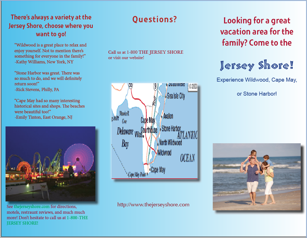 New Jersey Travel Brochures Regarding Order Wildwood Nj Usa Tourist Brochure