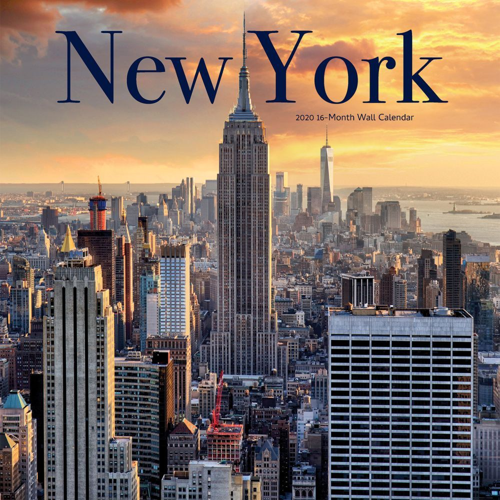 New York City Wall Calendar,brownt With Calendar Empire State Building