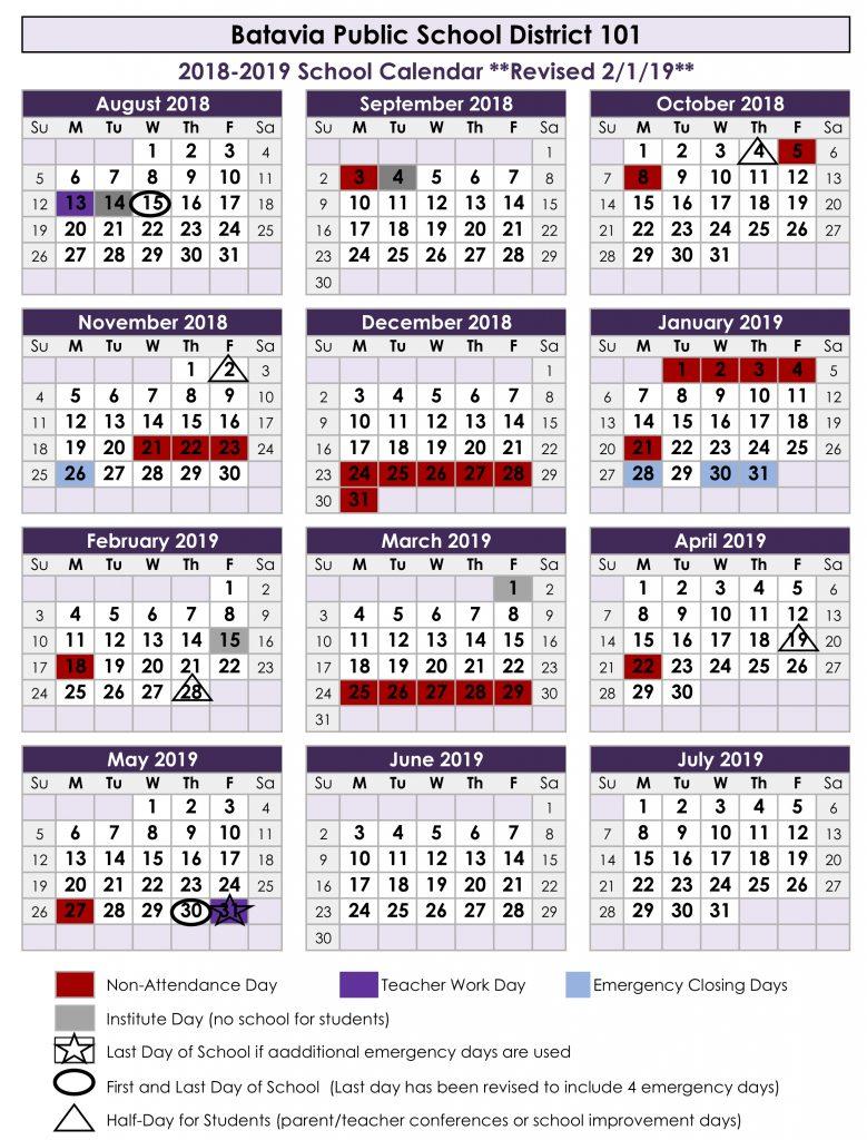News Revised 2018 19 Academic Calendar Inside St Charles Illinois School Calendar