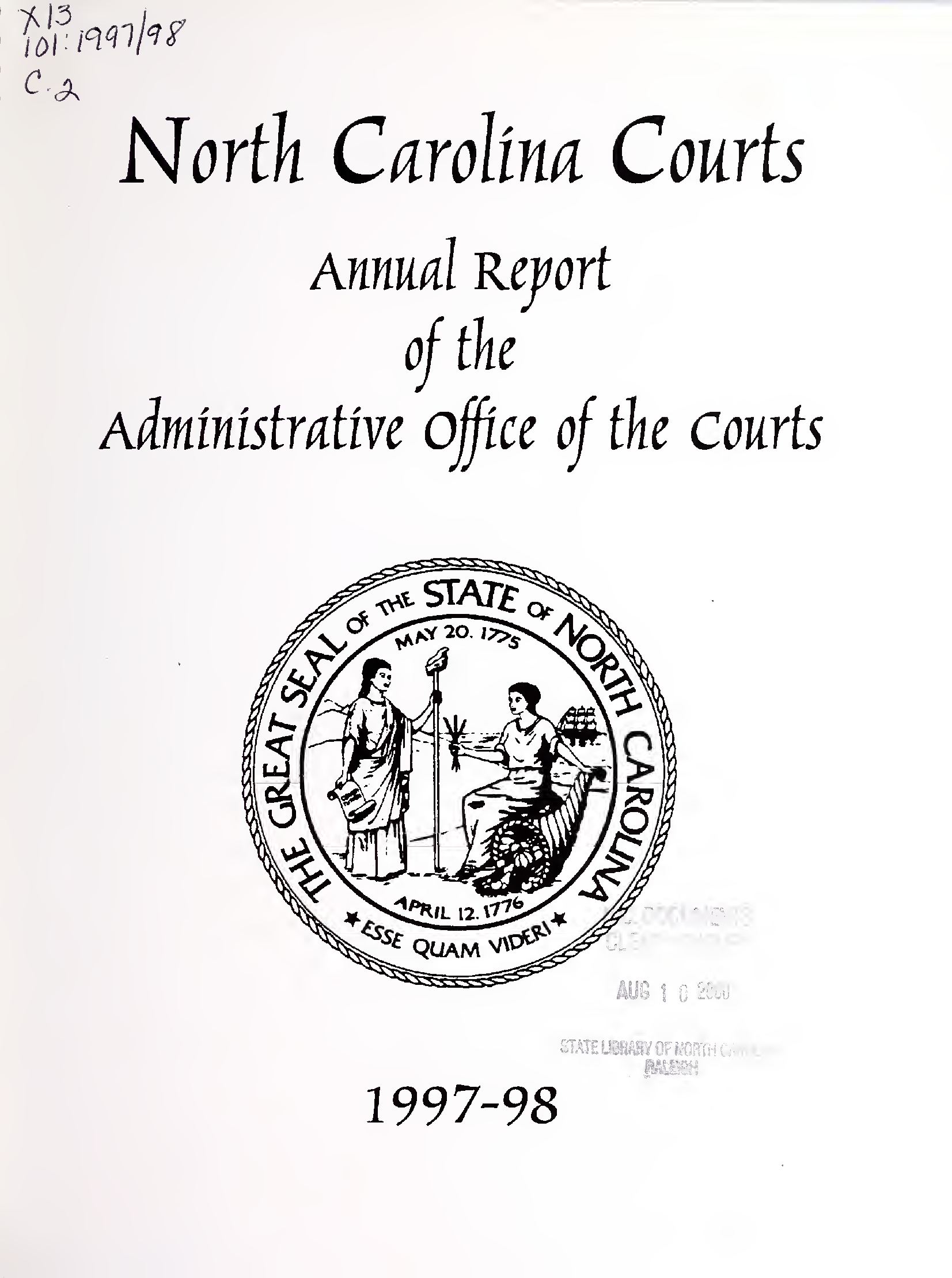 North Carolina Courts : Annual Report Of The Administrative Throughout Onslow County District Court Calendar