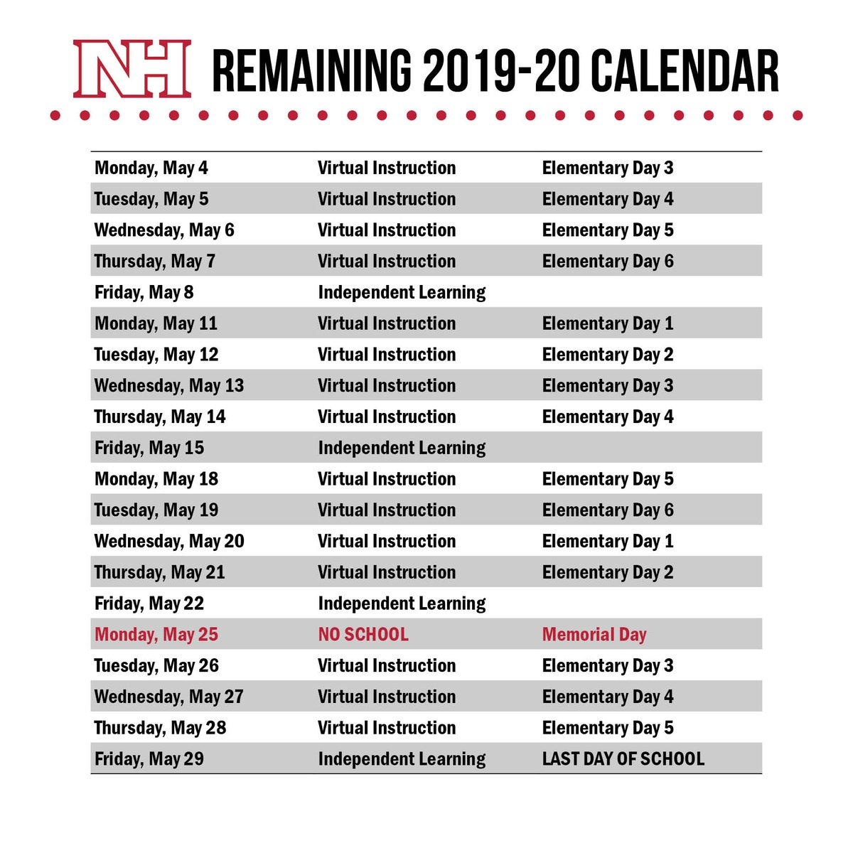 "North Hills Sd On Twitter: ""four More Weeks! 🌞 #nhproud… "" Within North Hills School Calendar"