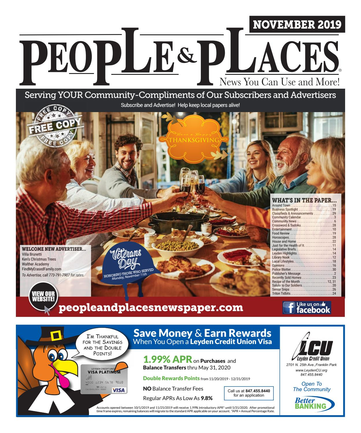 November 2019 People & Places Newspaperjennifer Creative With Regard To Turning Stone Bingo Calendar 2021 November