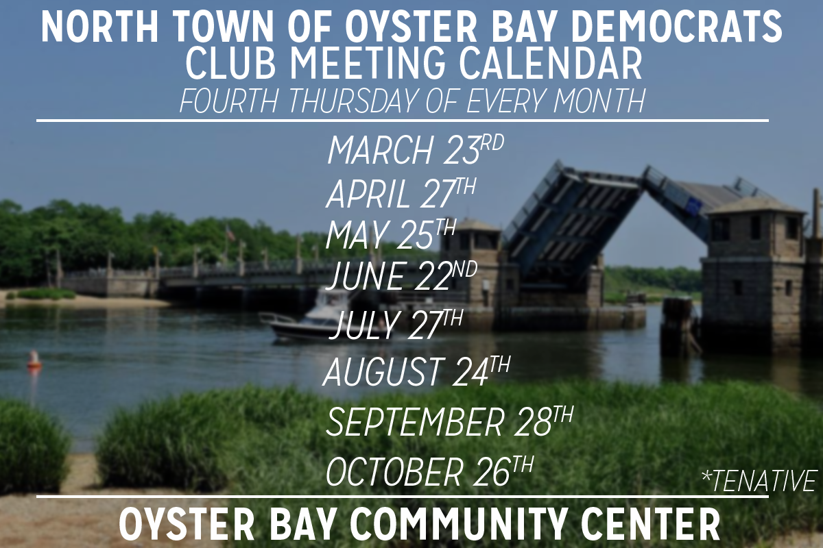 Ntob Calendar – Oyster Bay Democrats Throughout Town Of Oyster Bay Calander