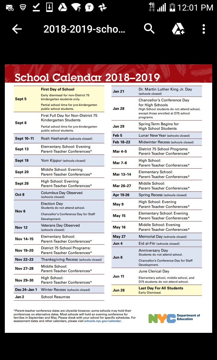 "Nyc Public Schools On Twitter: ""planning Ahead? Check Out Intended For Board Of Education Calendar Nyc"