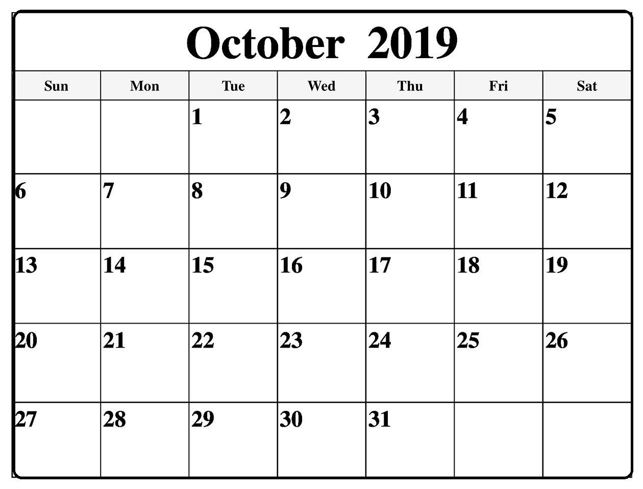 October 2019 Calendar Printable Word Template - Latest With Where To Find Google Printable Amendable Calander