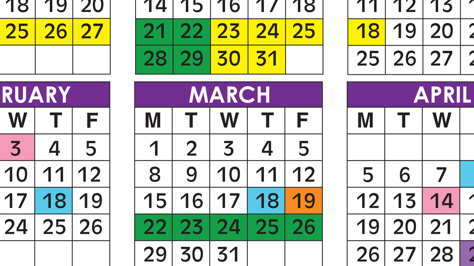 Official 2020/21 Broward County Public Schools Color Intended For The School District Of Palm Beach County School Calendar 2020 2021