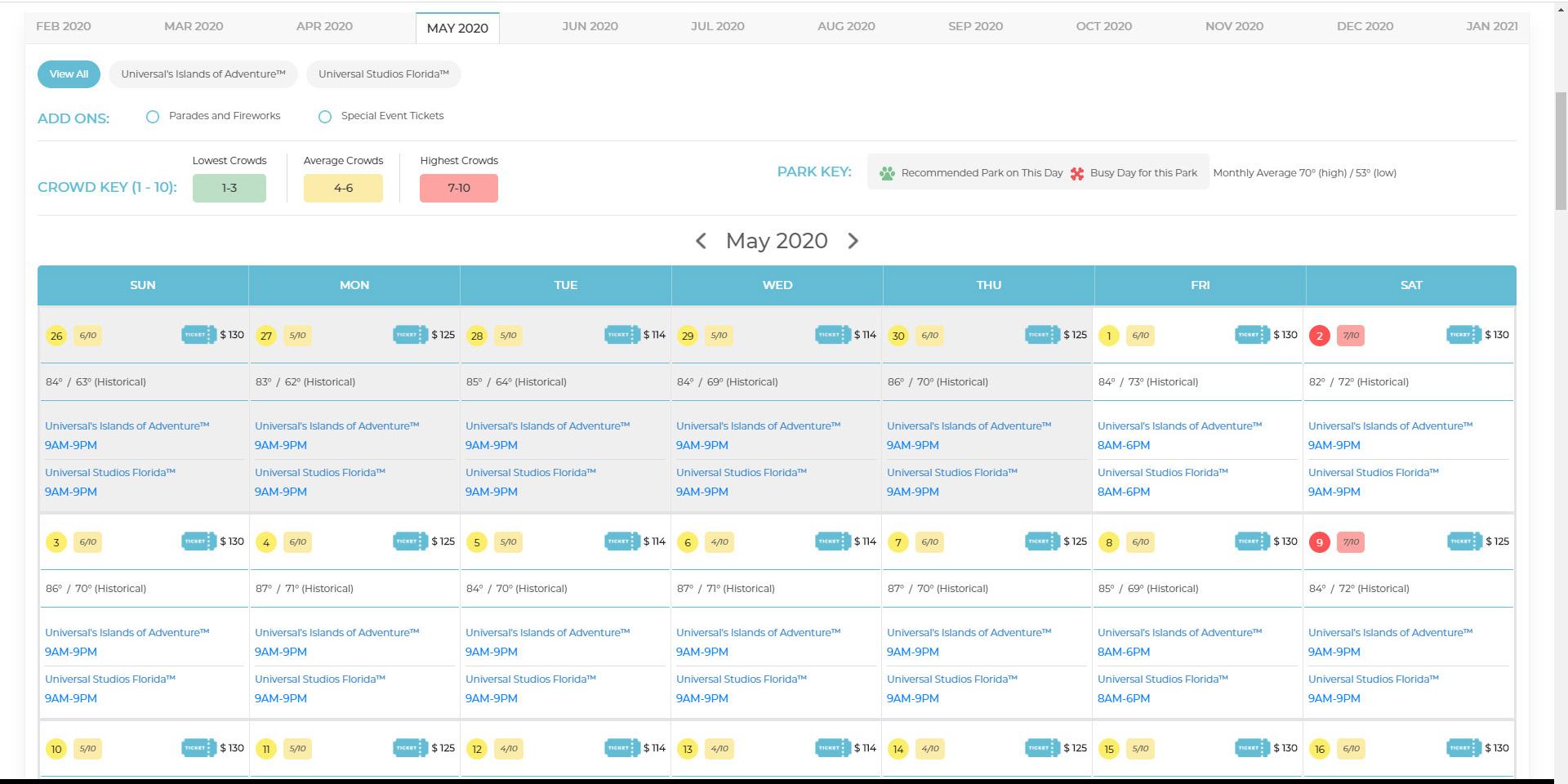 Orlando Crowd Calendar – Disney Crowd Calendar – Universal With Regard To 2021 Extra Magic Hours Calendar