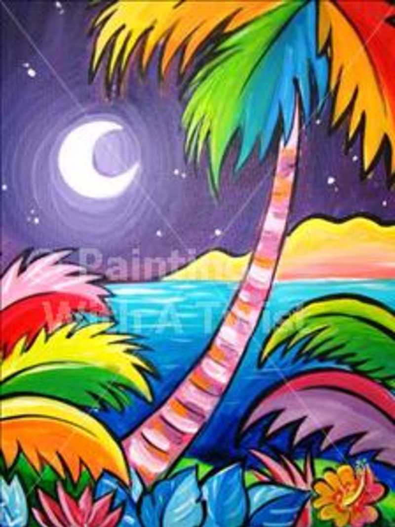 "Painting With A Twist – ""colors Of The Caribbean"" In Austin At Pertaining To Painting With A Twist Calendar"