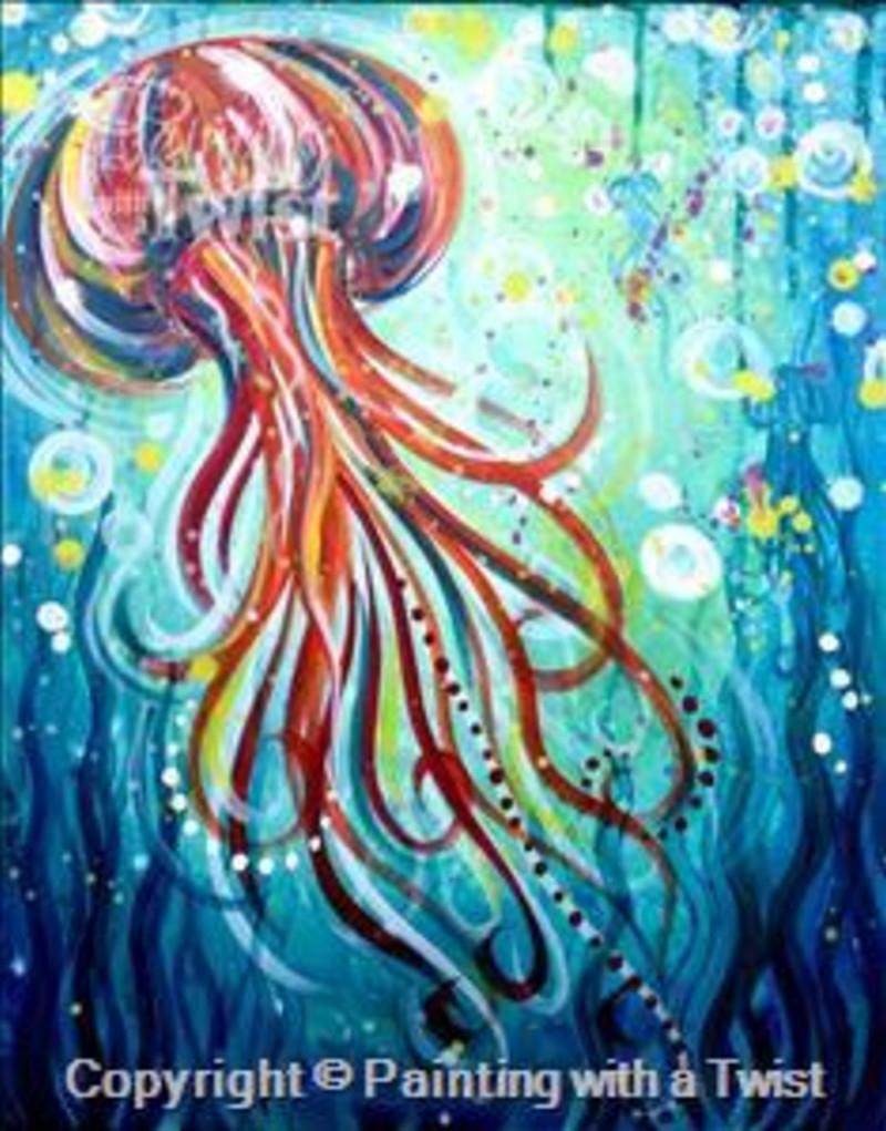 "Painting With A Twist - ""i'm Jelly"" 