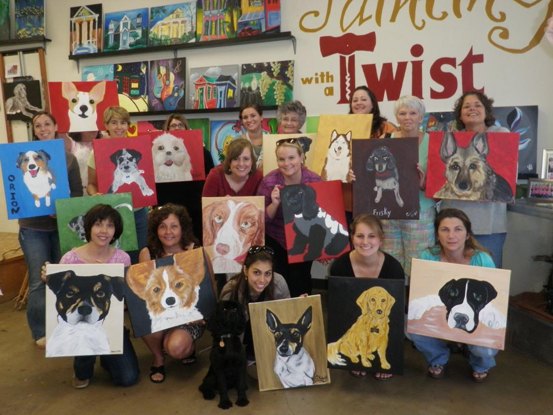 Painting With A Twist: Paint Your Pet | Charlottehappening Regarding Painting With A Twist Calendar