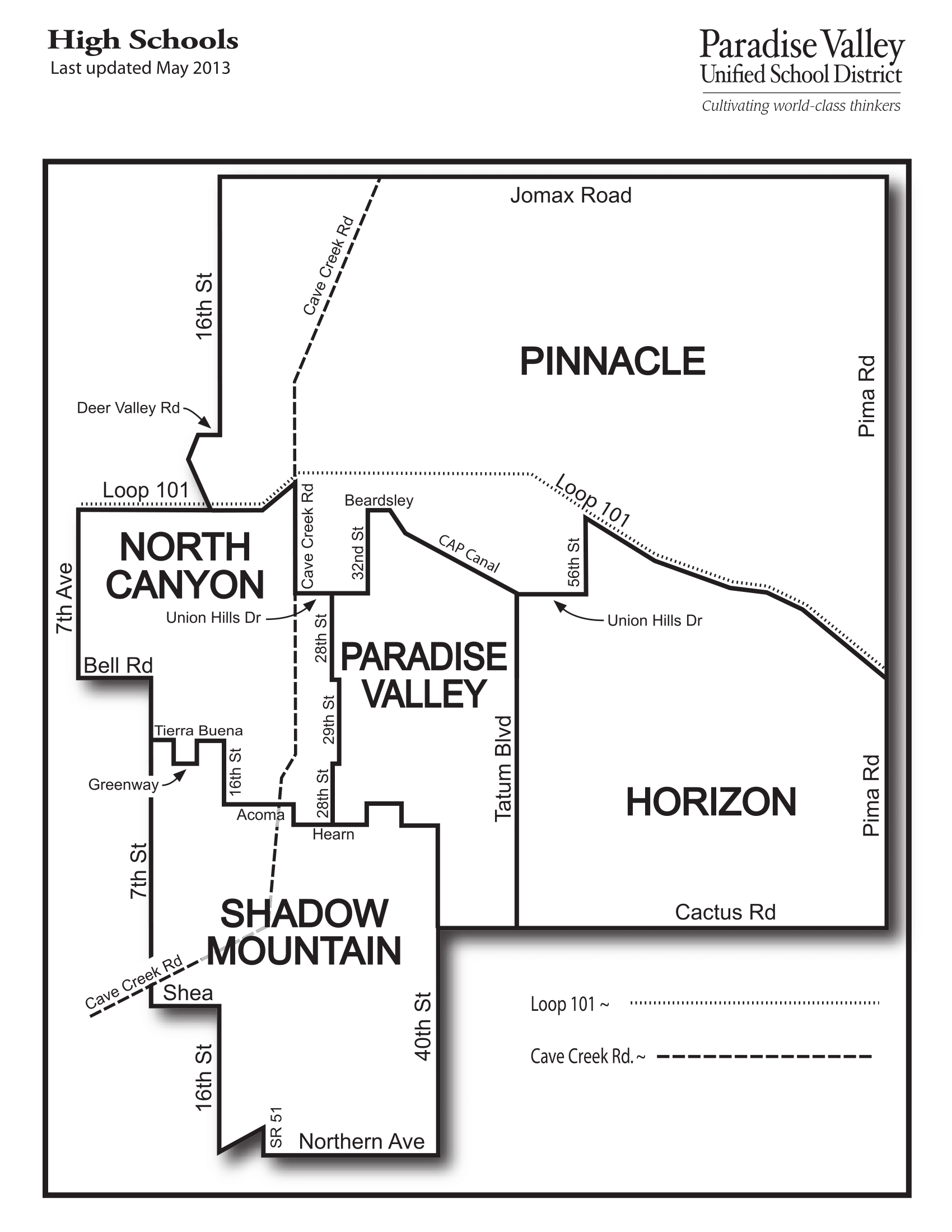Paradise Valley Az Unified School District 2019 - 2020 For Paradise Valley Unified Calendar