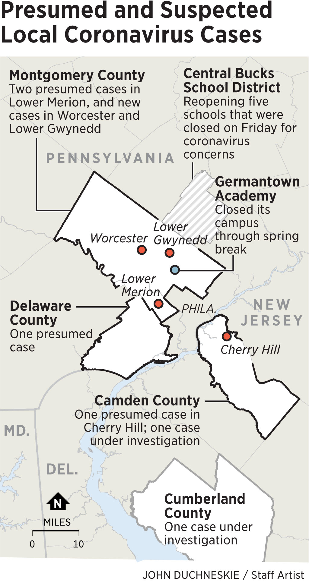 Philly Area Schools Grapple With Coronavirus, Closing With Cherry Hill District Spring Break
