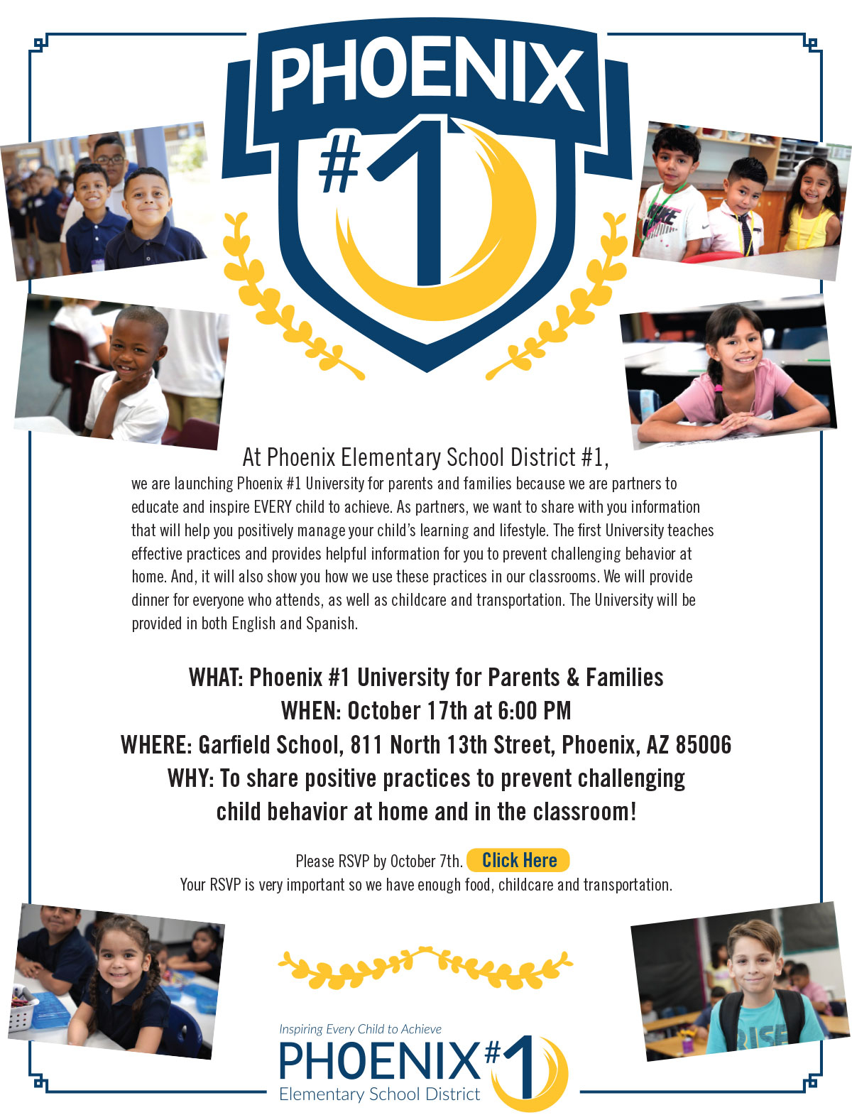 Phoenix Elementary School District #1 | Inspiring Every Within University Of Phoenix Schools Spring Break