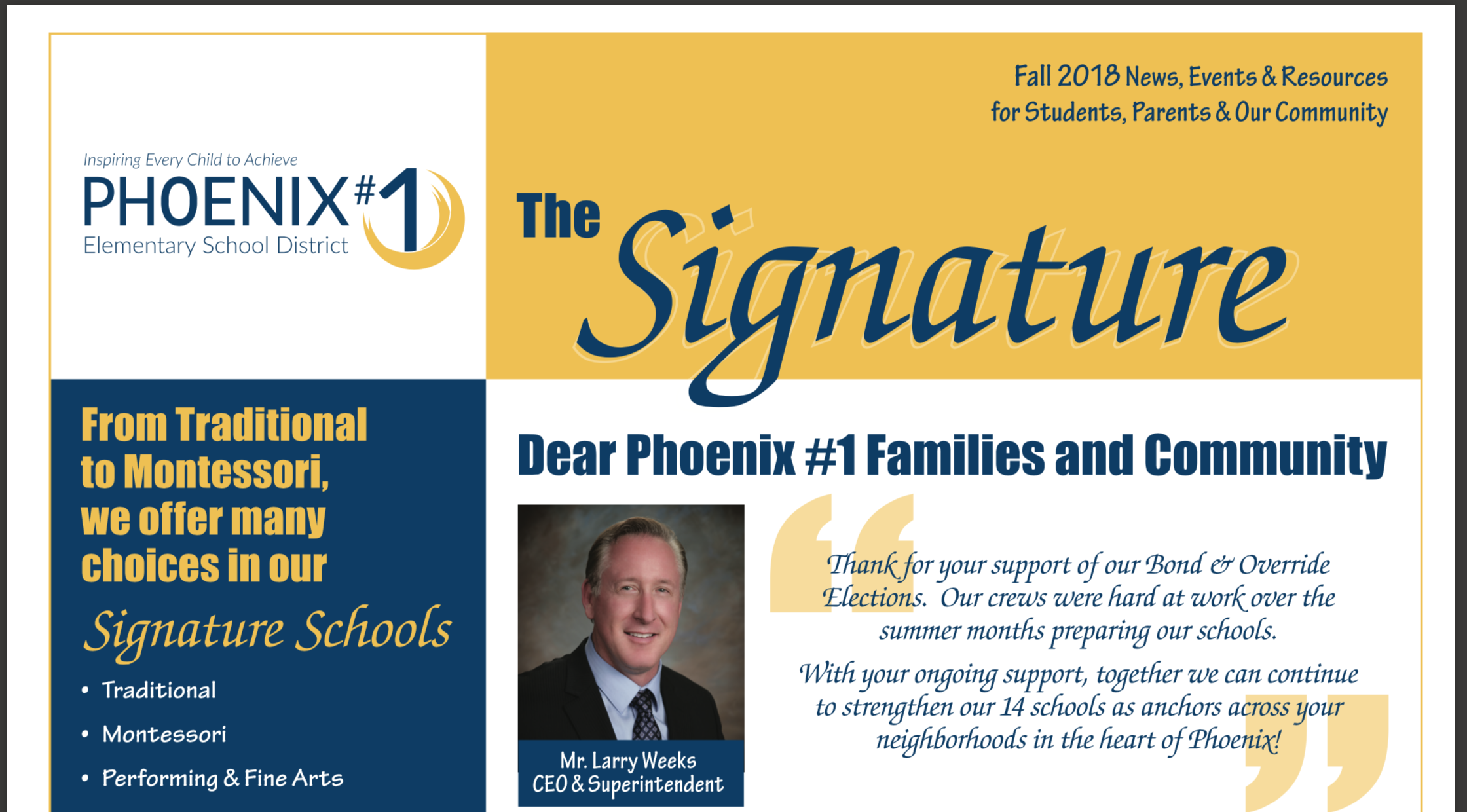 Phoenix Elementary School District #1 | Inspiring Every Within When Is Spring Break For The University Of Phoenix