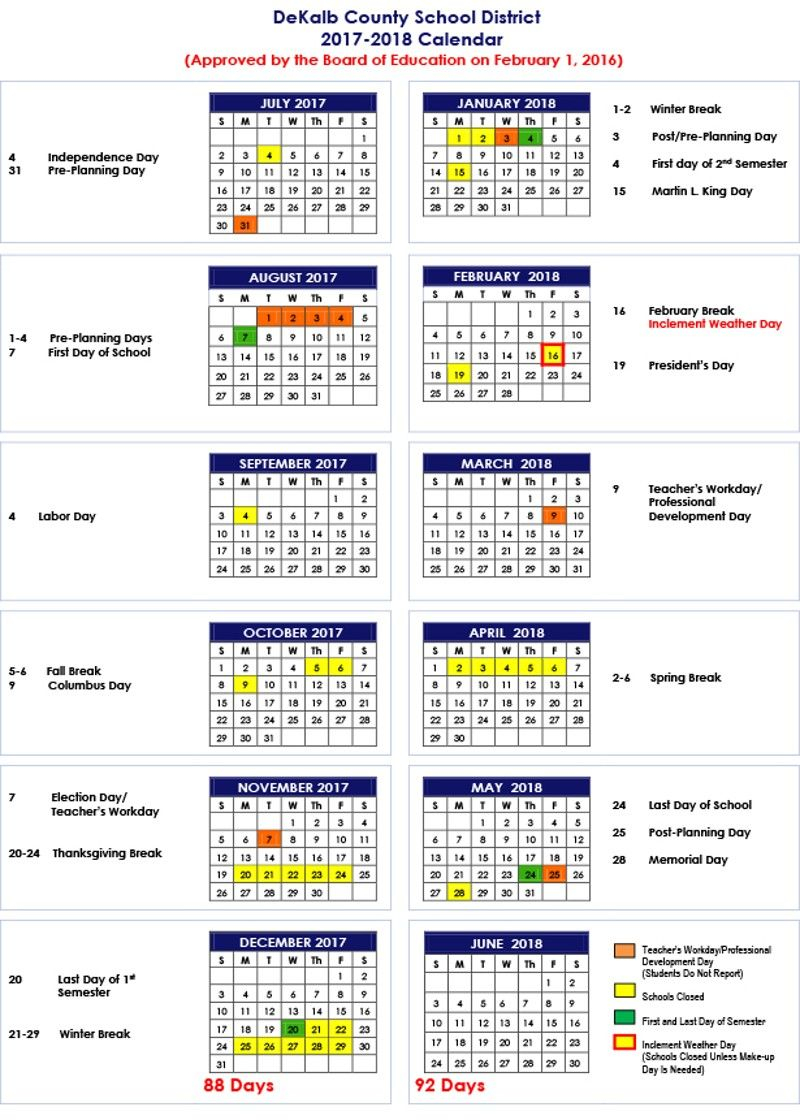 Pin On Places: Atlanta Throughout Martin County School District Calendar