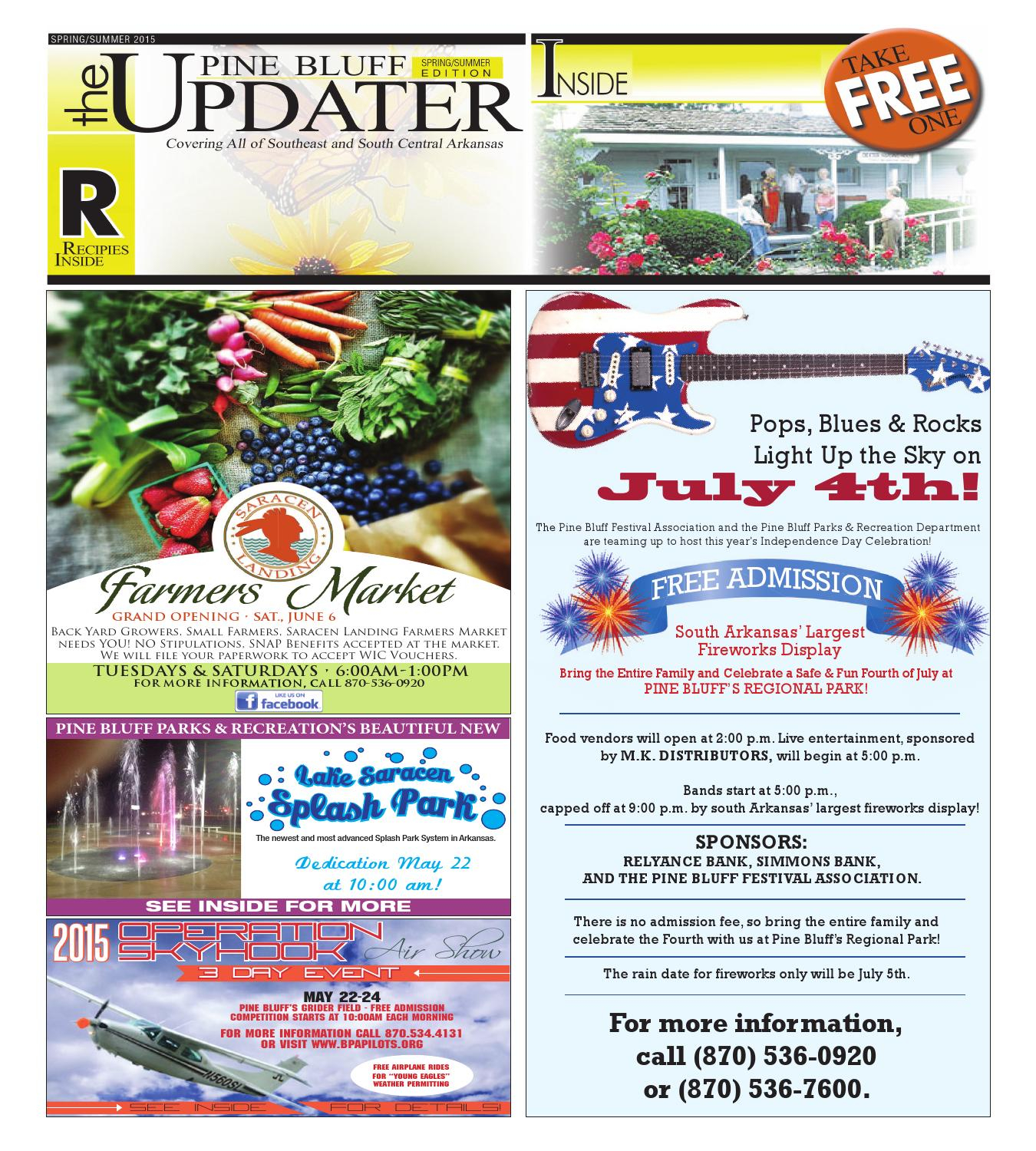 Pine Bluff Updater Spring Summer 2015The Updater – Issuu Intended For When Is Spring Break 2020 In Pine Bluff