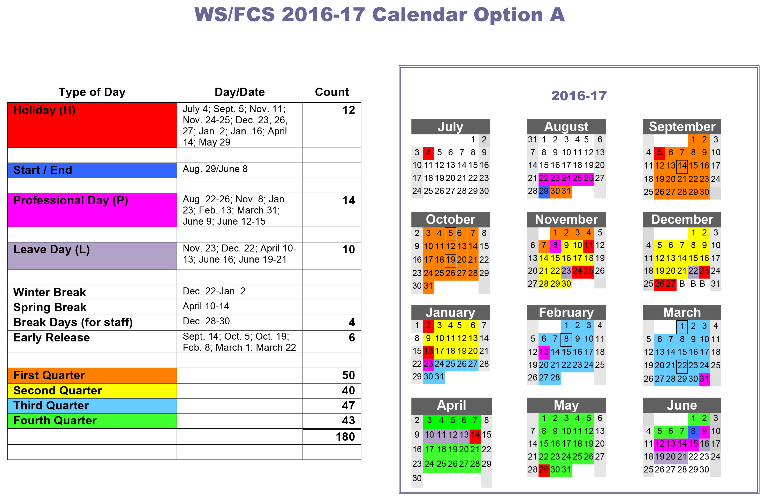Please Take Our 2016-17 Calendar Survey regarding Winston Salem Salem Forsyth County School Calendar