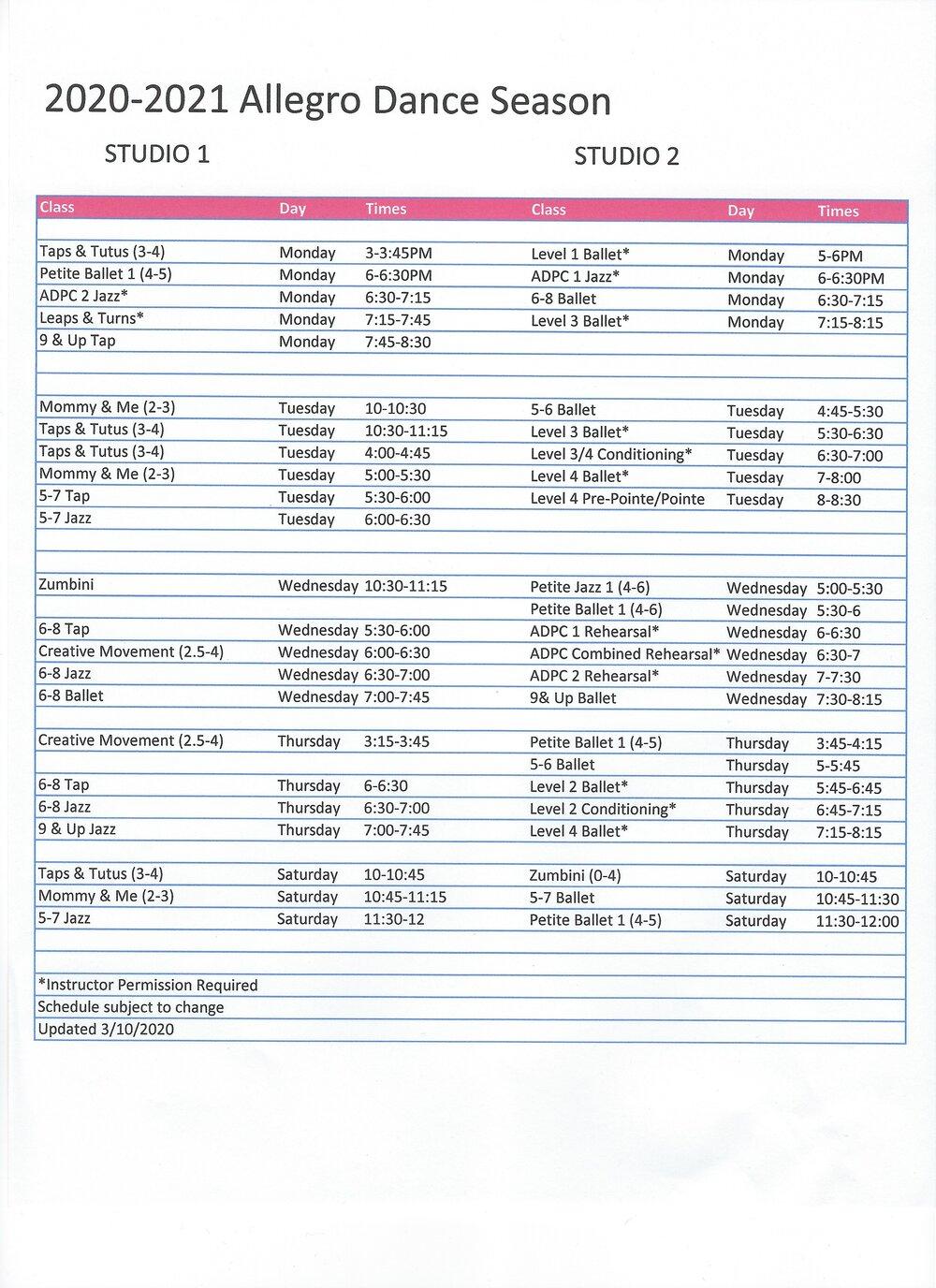 Pointe — Allegro Danceallegro News Regarding West Bloomfield School Calendar 2021