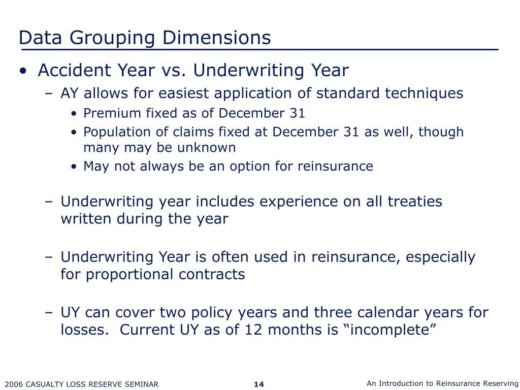 Ppt – Introduction To Reinsurance Reserving Powerpoint Inside Accident Year Vs Calendar Year