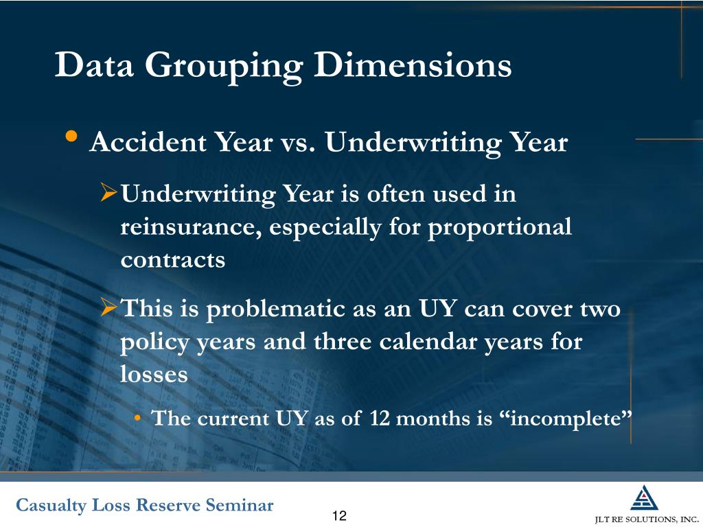 Ppt - Introduction To Reinsurance Reserving Powerpoint Intended For Accident Year Vs Calendar Year