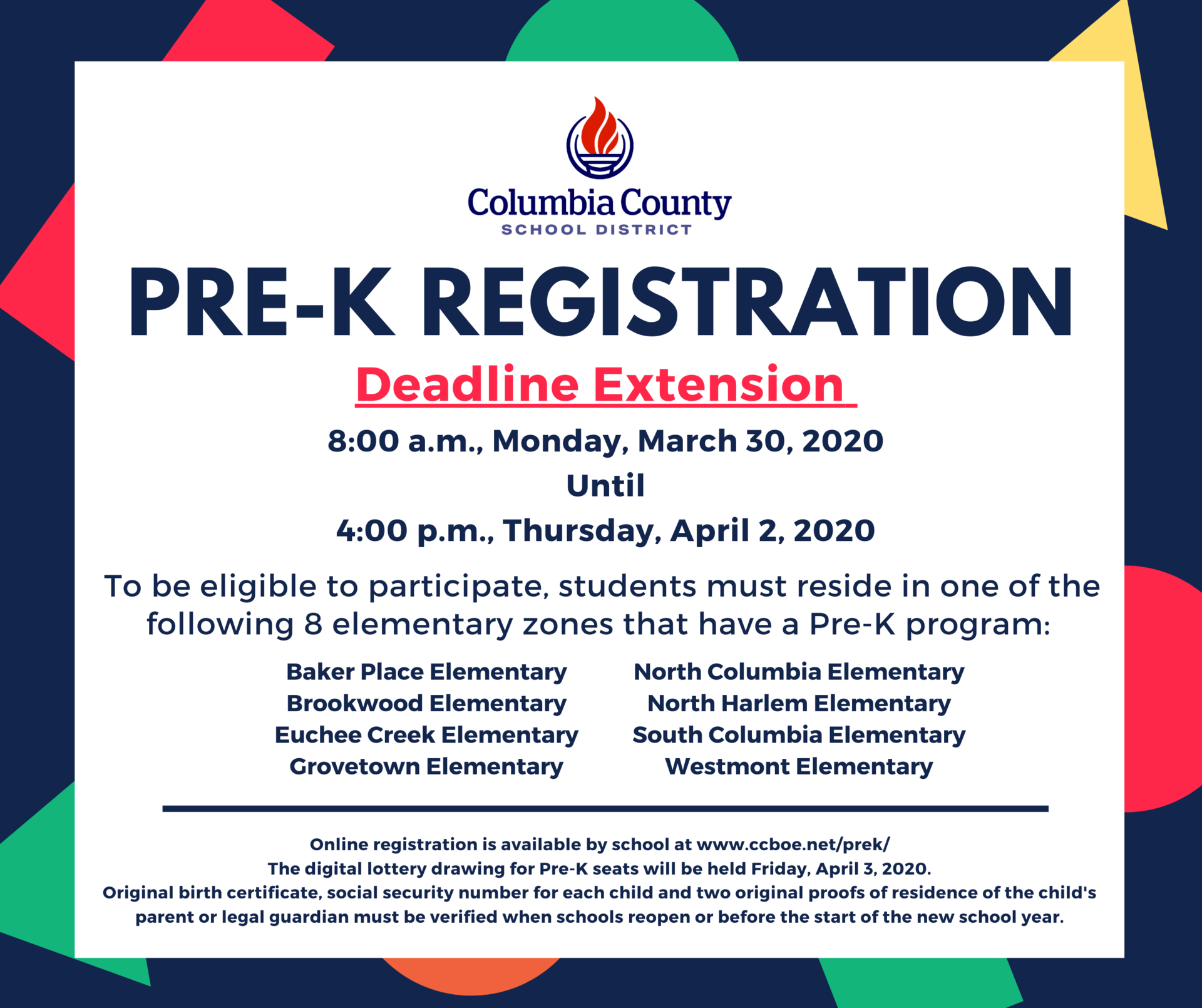 Pre K – Grades Prek 5 – Columbia County Schools Intended For 2021 Columbia County Florida Spring Break