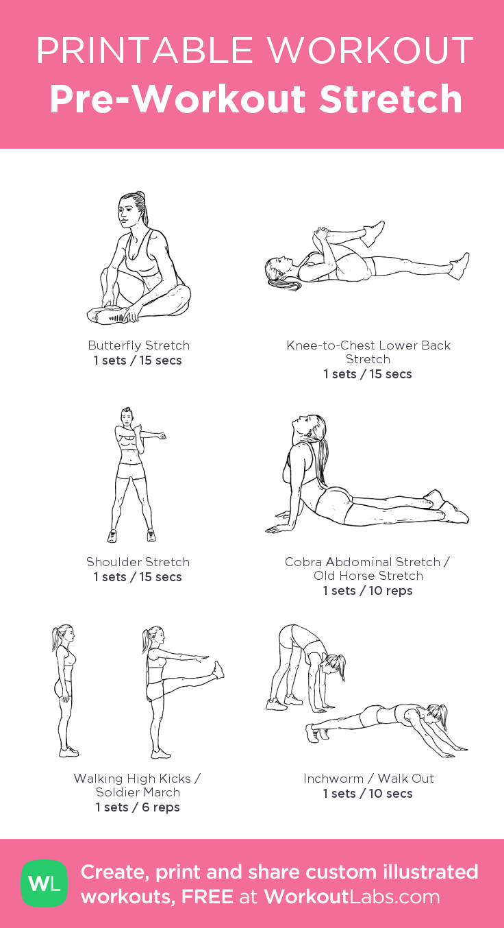 Pre Workout Stretch (With Images) | Pre Workout Stretches With Regard To Free Printable Program For Inner Thights