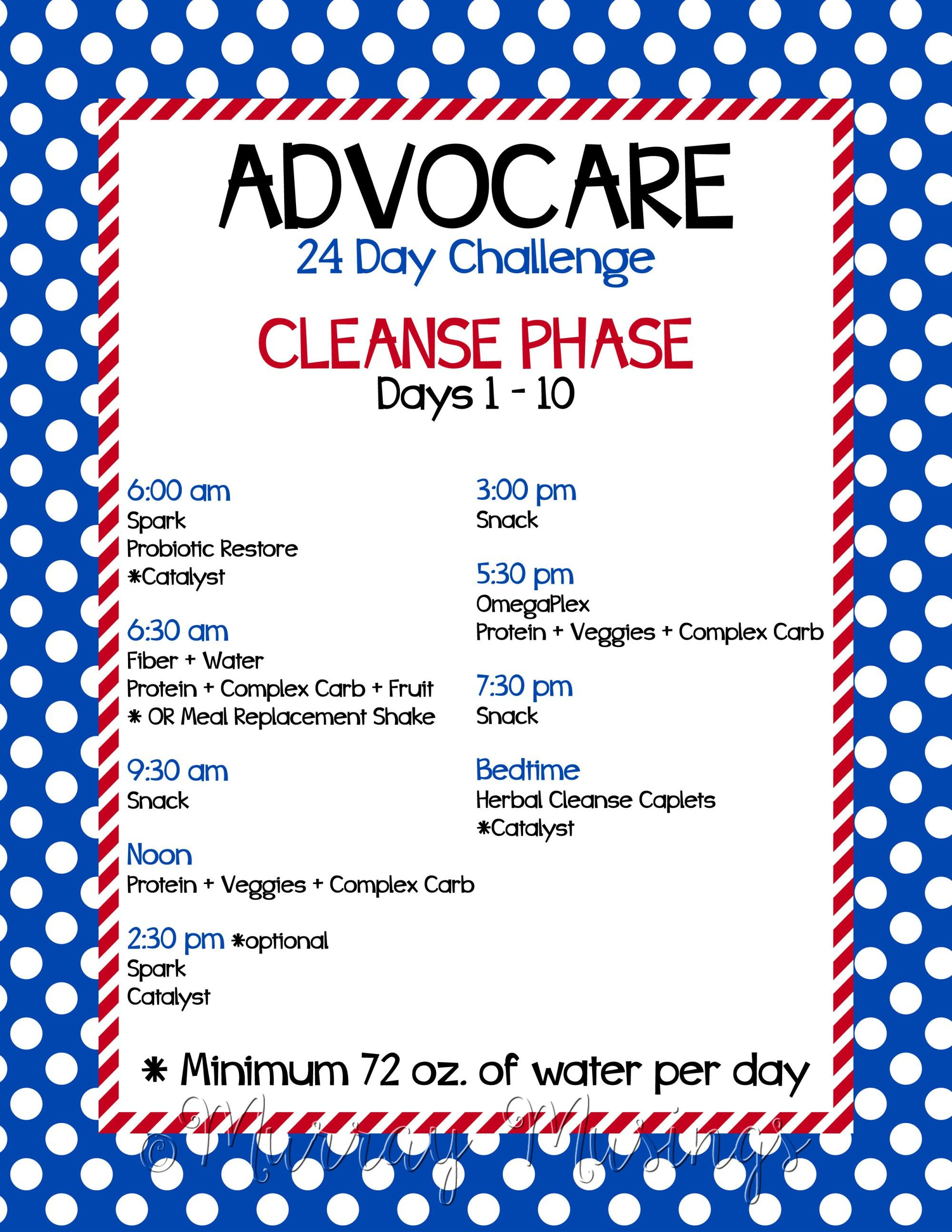 Prepping For The Advocare 24 Day Challenge (With Images With 24 Day Jumpstart Pdf Workout