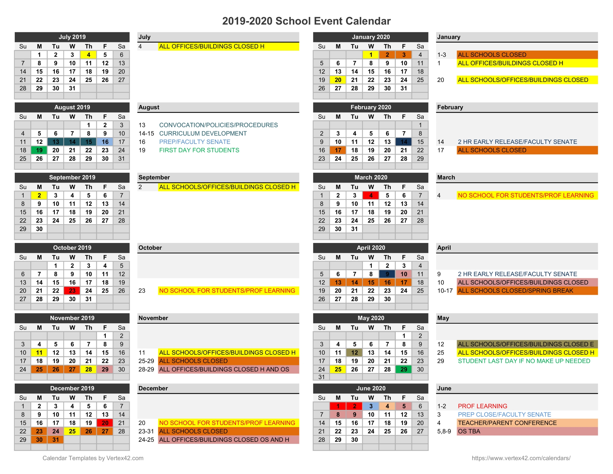 Primary School Holiday List 2019 Bangladesh – School Style Intended For Jefferson County Colorado School Calendar