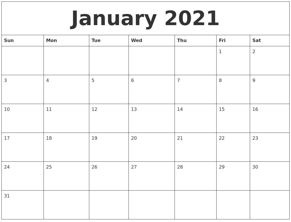 Print Monthly Calendar 2021 Free In 2020 | Monthly Calendar With Moon Calendar 2021 Name And Date For Kids