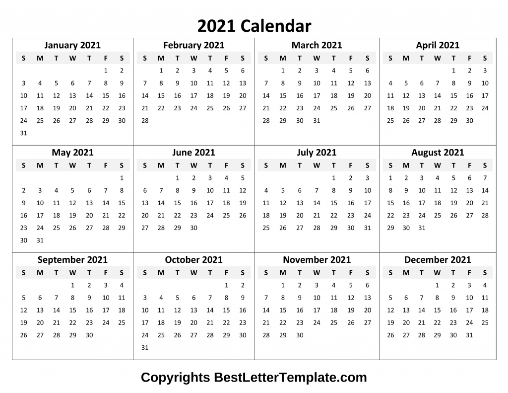 Printable 2021 Calendar Template In Pdf, Word & Excel With Outlook 2021 Google Calendar Edit