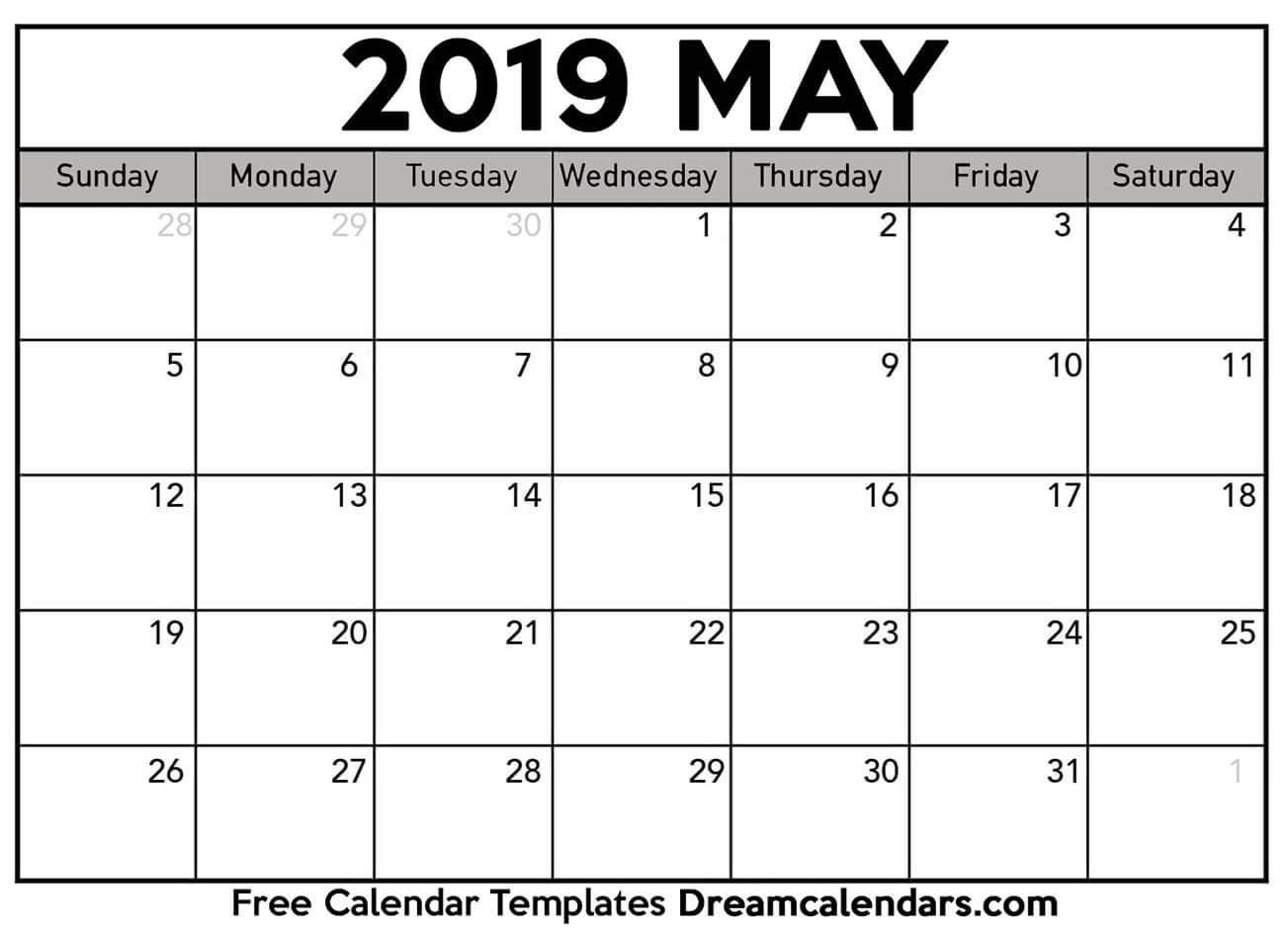 Printable May 2019 Calendar With Regard To Calendar Sunset Sunrise Length Printable