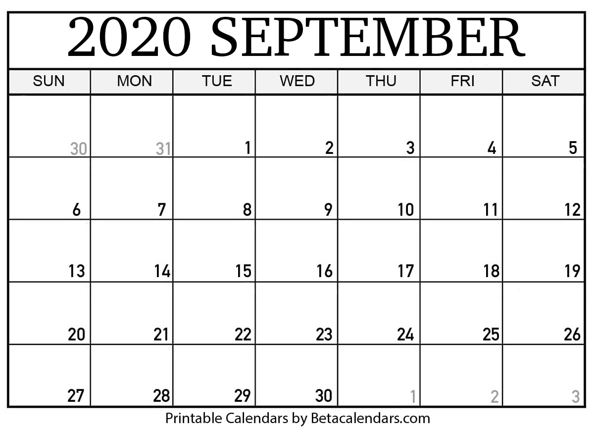 Printable September 2020 Calendar – Beta Calendars With Canton Trade Days 2021 Calendar