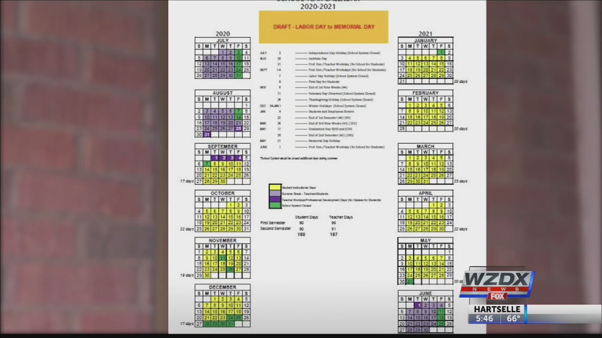 Proposed School Calendar Causing Confusion And Controversy Intended For Madison County Schools School Year Calendar