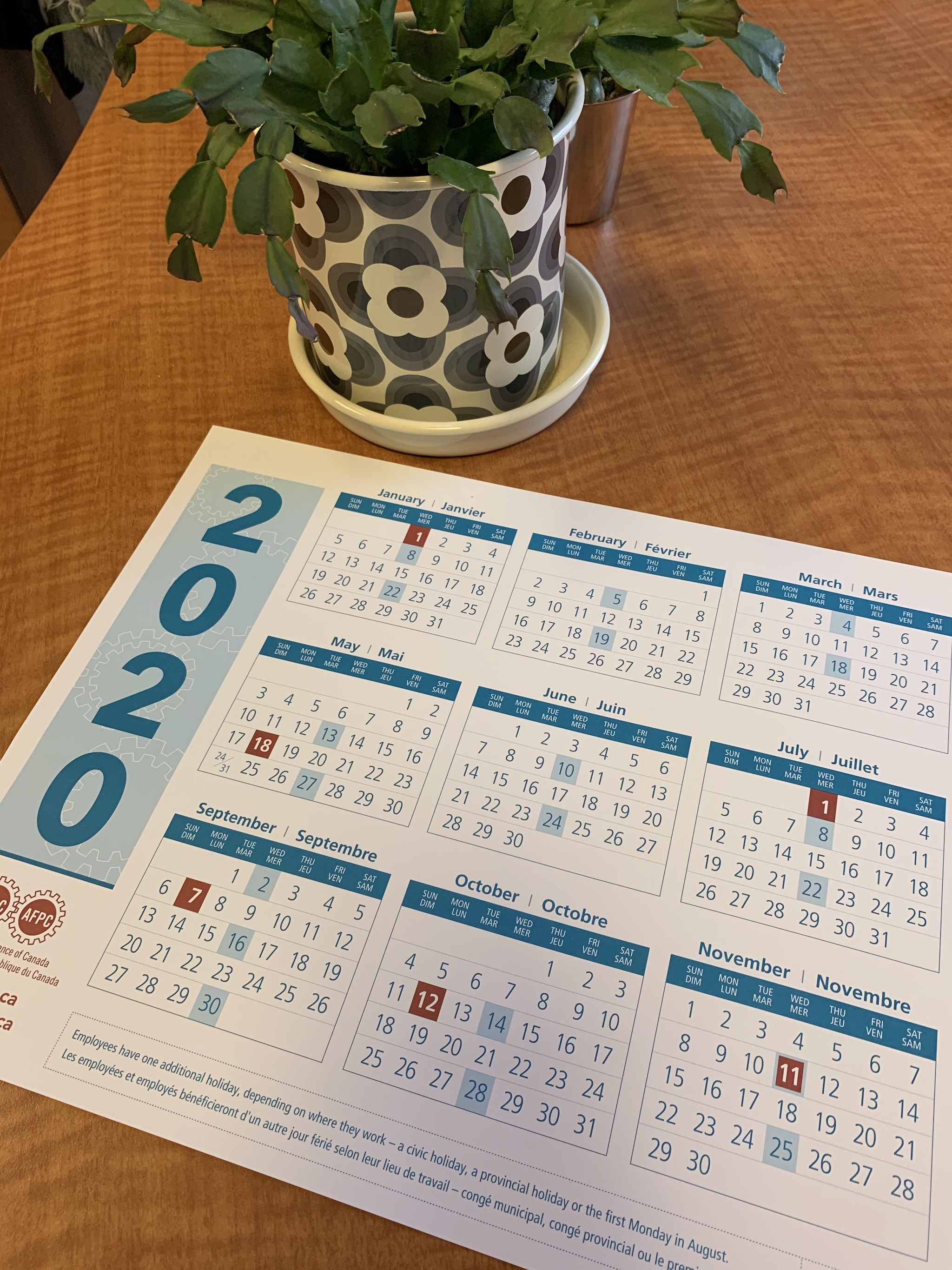 Psac Calendars | Public Service Alliance Of Canada Within University Of Phoenix Holiday Calendar 2020