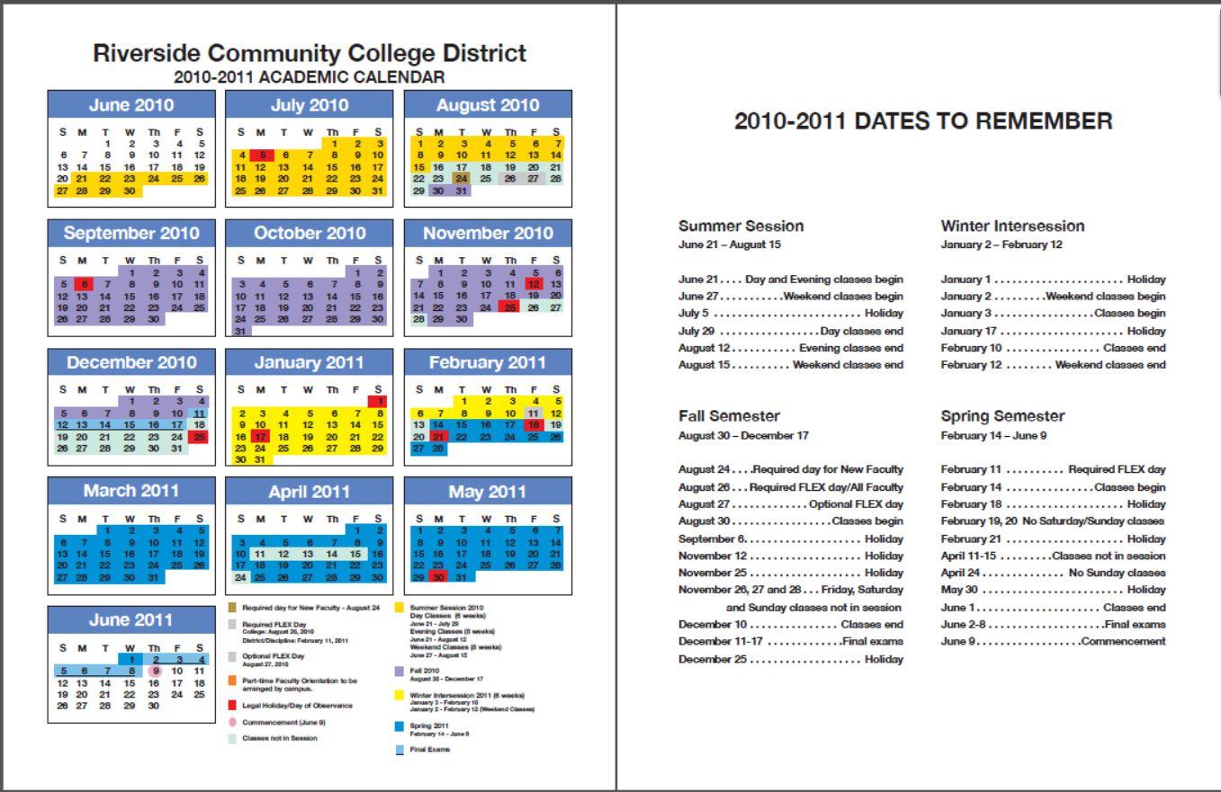 Rccd Academic Calendar | Class Schedules Fall 2006 – Fall For Santa Monica College Academic Calendar