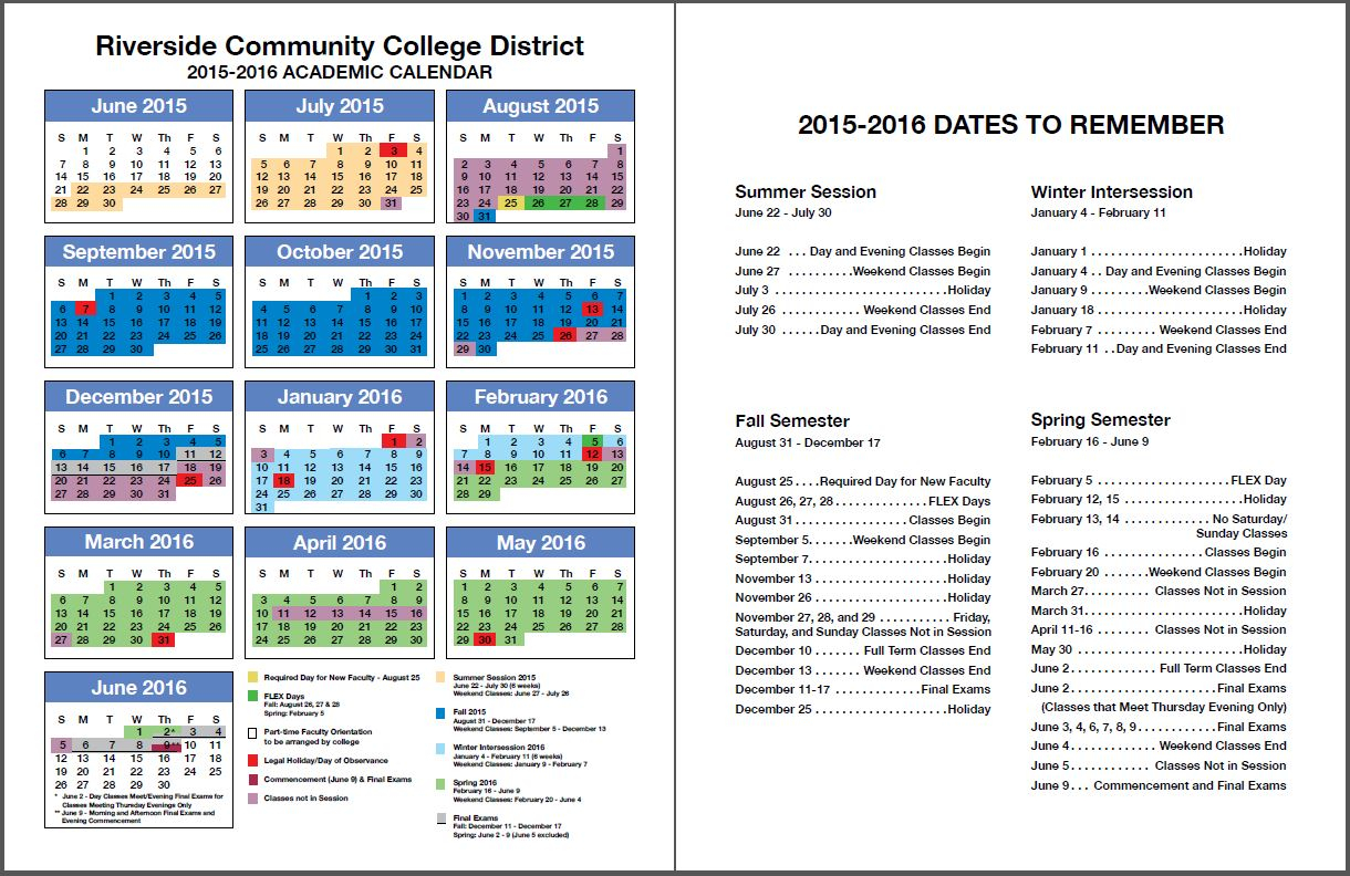 Rccd Academic Calendar | Class Schedules Fall 2006 - Fall Intended For Norco School District Calendar