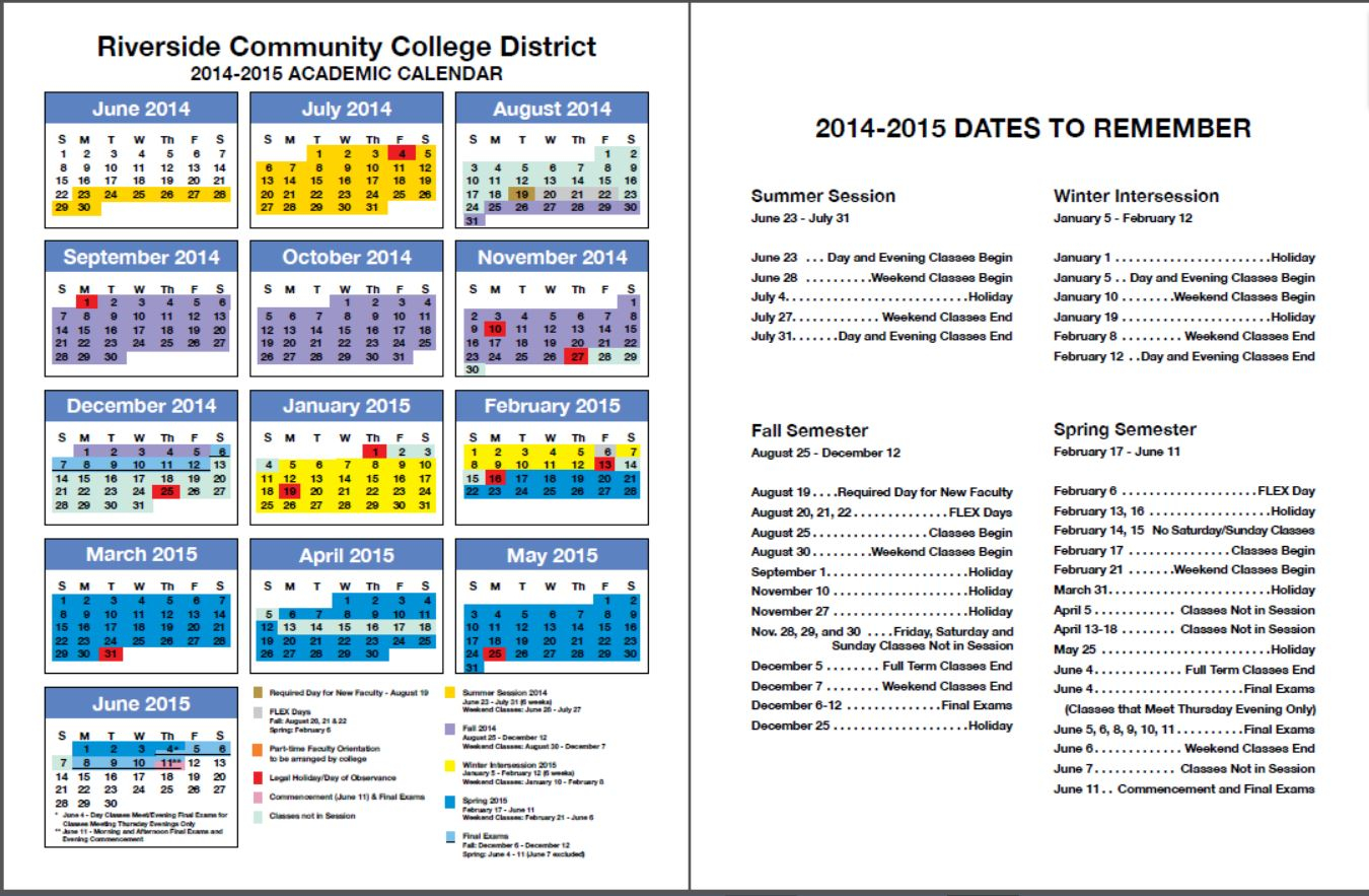 Rccd Academic Calendar | Class Schedules Fall 2006 – Fall Pertaining To Norco School District Calendar