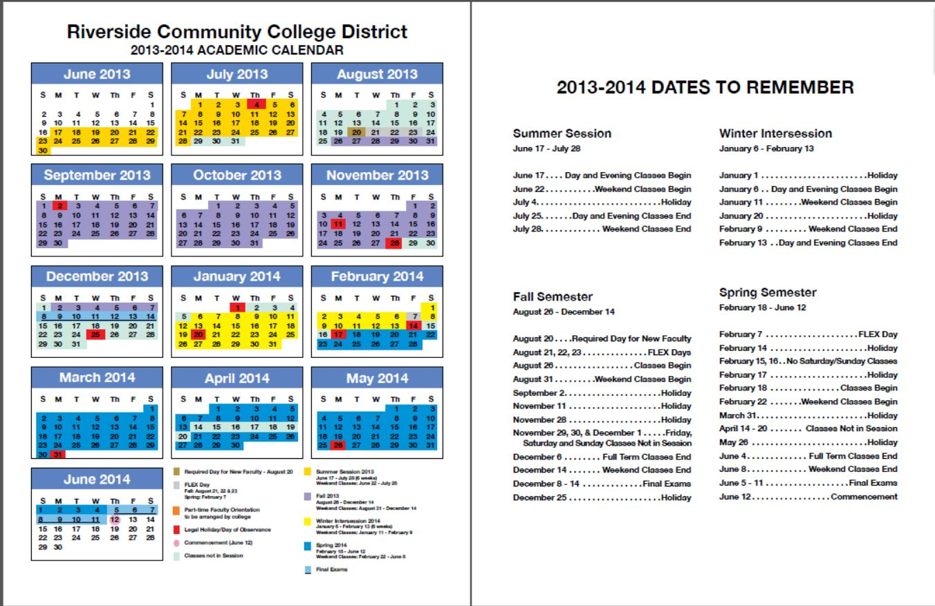 Rccd Academic Calendar | Class Schedules Fall 2006 – Fall Within Santa Monica College Academic Calendar