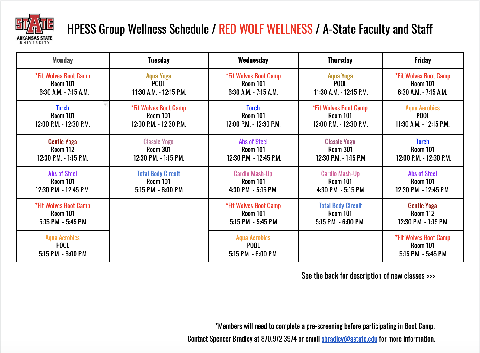 Red Wolf Wellness | A State Faculty & Staff Intended For Arkansas State University Holiday Schedule