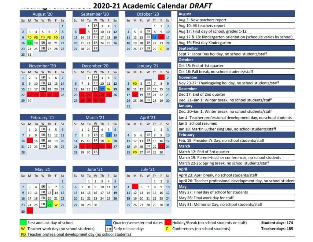Roaring Fork Schools' 2020 21 Calendar Plan Includes Earlier With Blue Springs School District Calendar