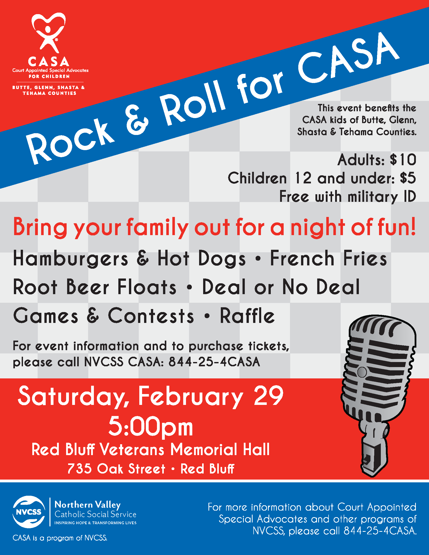 Rock & Roll For Casa - Nvcss Throughout Tehama County Court Calendar