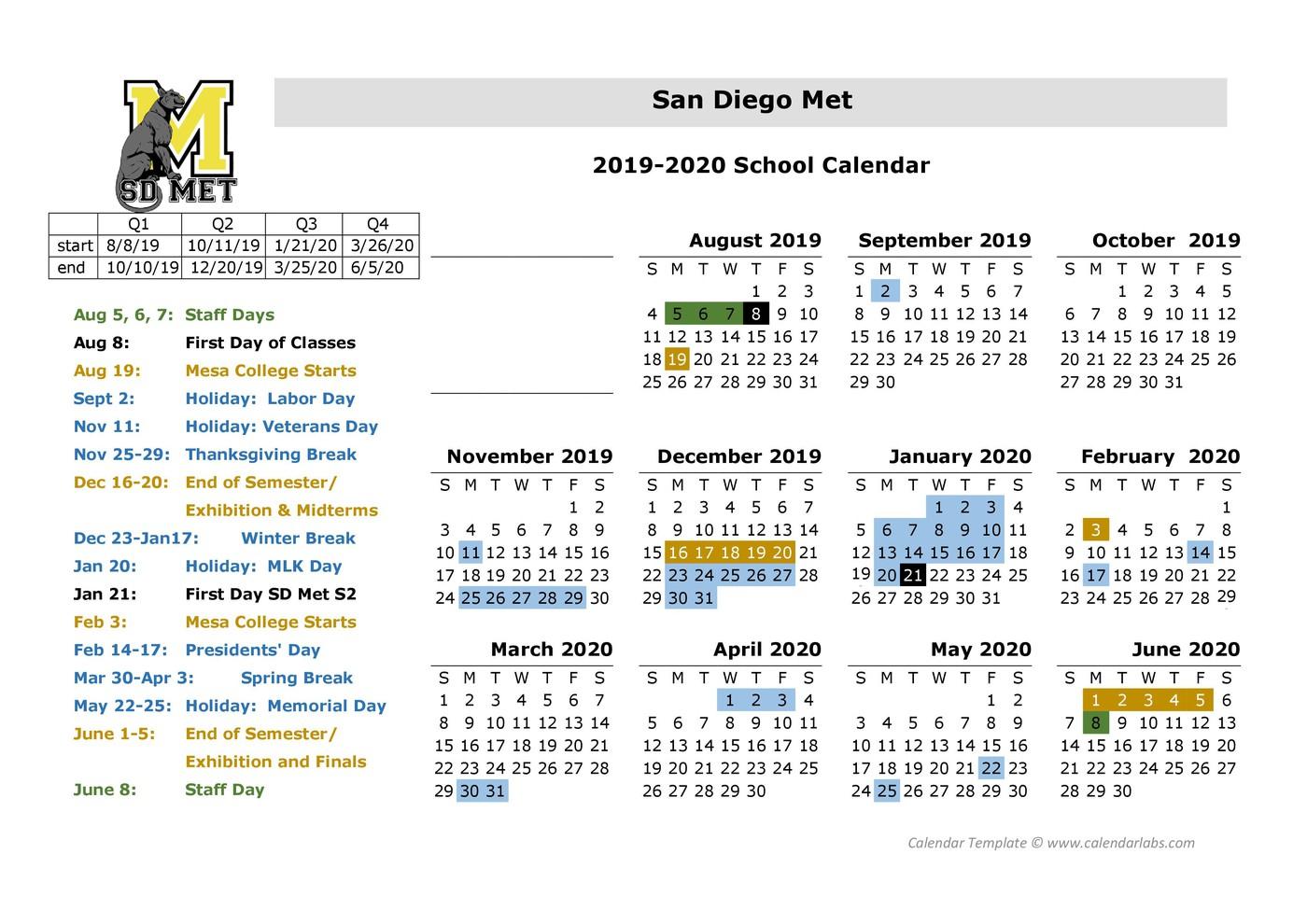 San Diego Metropolitan Regional And Technical | San Diego Intended For San Diego Unified School District Calendar