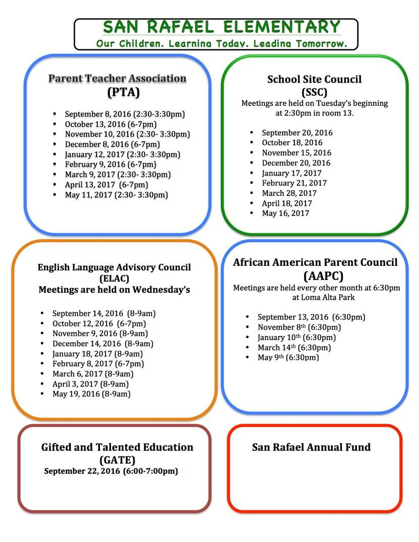 San Rafael Elementary School / Homepage Inside San Rafael Unified School District Calendar
