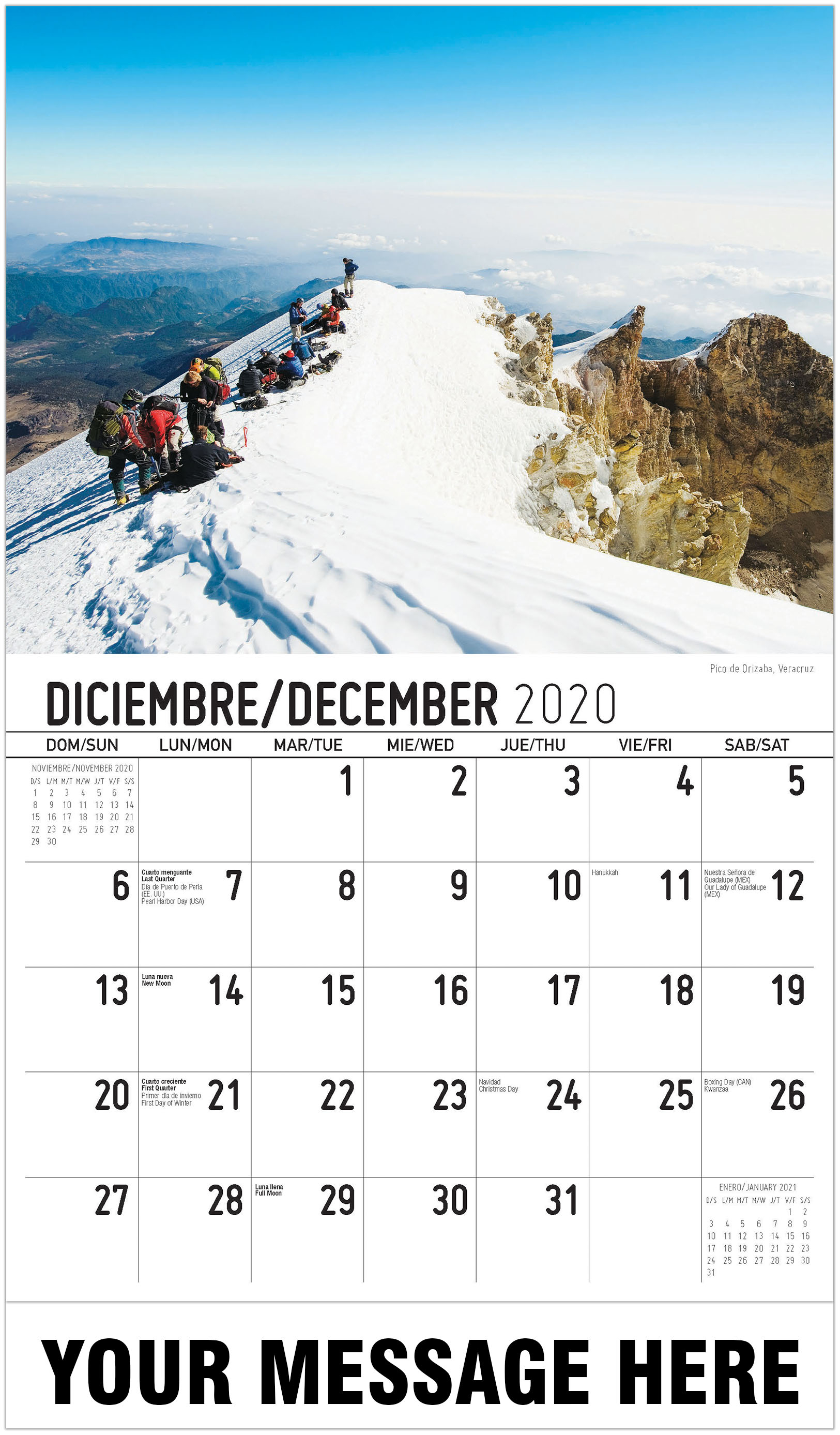 Scenes Of Mexico (Spanish English Bilingual) With Mexican Calendar 2021 With St Names